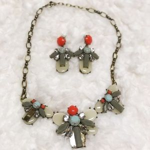 Baublebar set earrings necklace 🌸